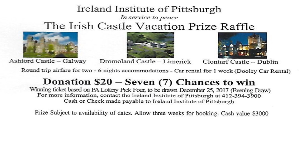 the irish castle vacation prize raffle